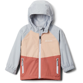 Columbia Dalby Springs Jacket Kids dark coral/peach cloud/cirrus grey